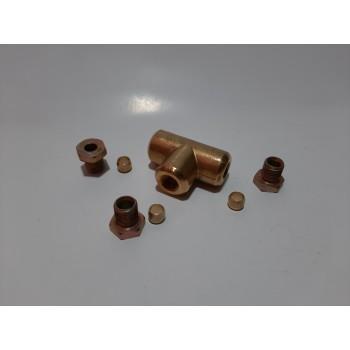 Соединение медной трубки в сборе 6х6х6 (тройник)