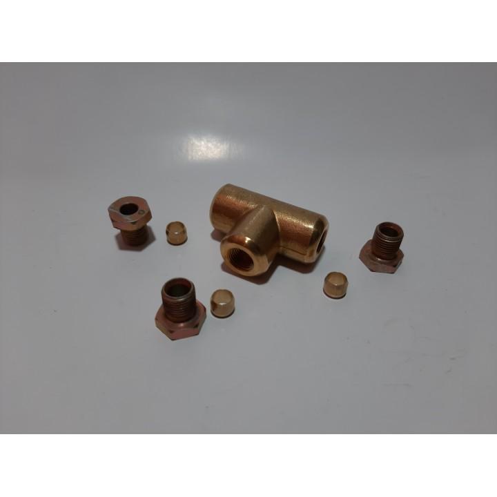 Соединение медной трубки в сборе 6х8х6 (тройник)