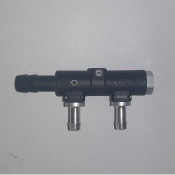 Гребенка 2 цилиндра (метал штуцера)